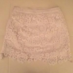 Topshop Skirts - Topshop white lace skirt